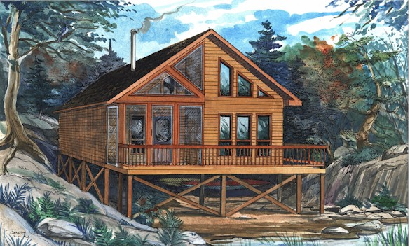 Country cabin getaways cabin kits pre engineered for Country cabin kits