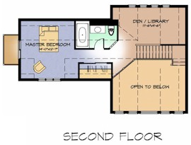 The Lakeview second floor plan