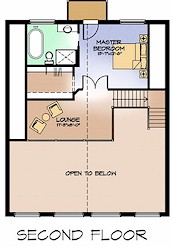 The Nighthawk second floor plan