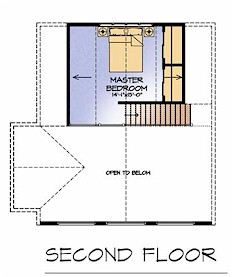 The Pine Siskin second floor plan