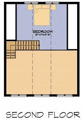 The Water Hemlock second floor plan